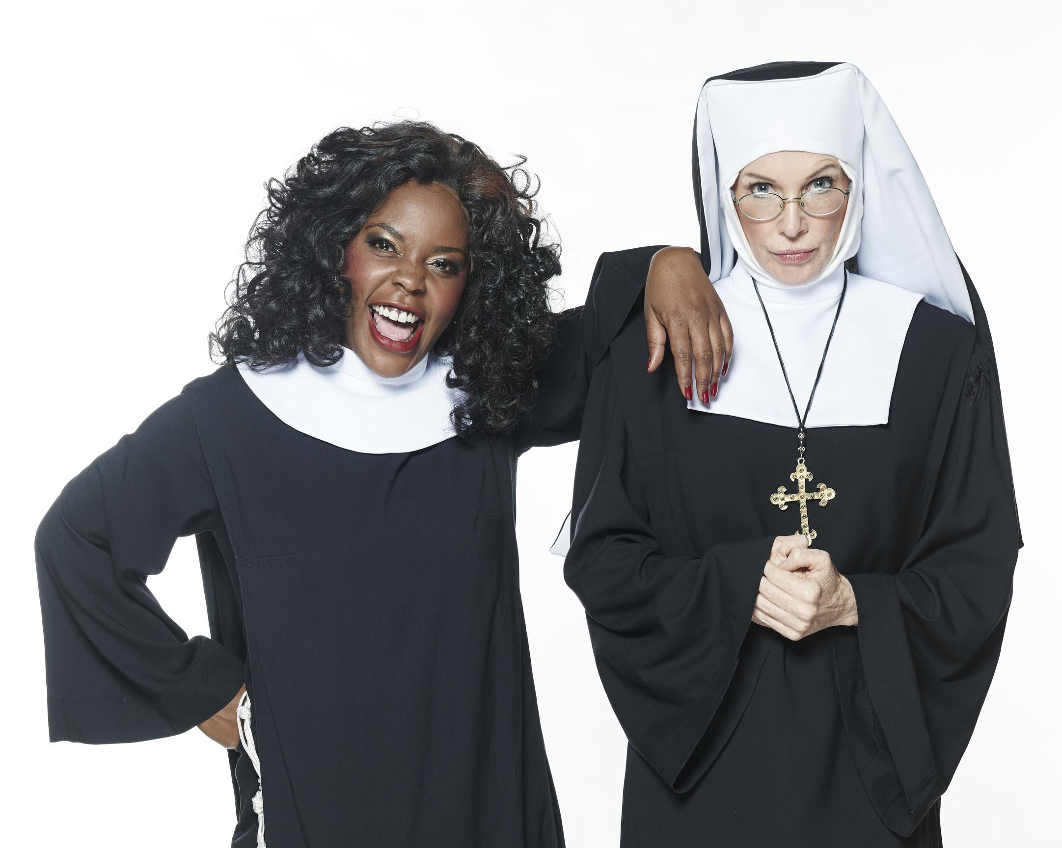 "Candida Mosoma and Kate Normington star in SA's production of ""Sister Act""."