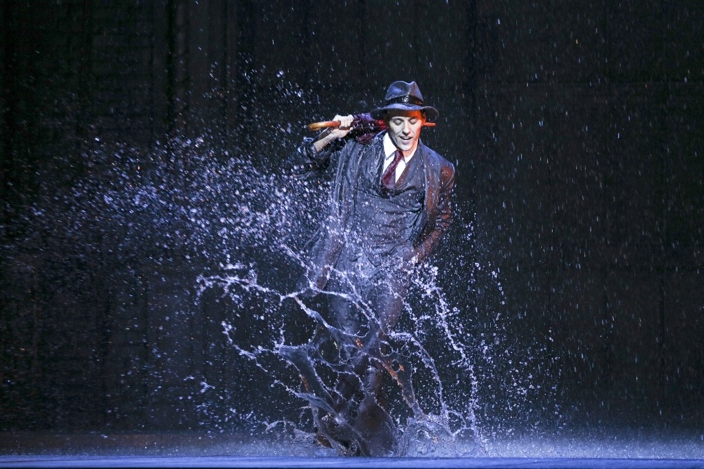 Grant Almirall as Don Lockwood during the Singin' In The Rain dress rehearsal, St James Theatre, Wellington, New Zealand on Tuesday, 14 April 2015. Credit: Hagen Hopkins.